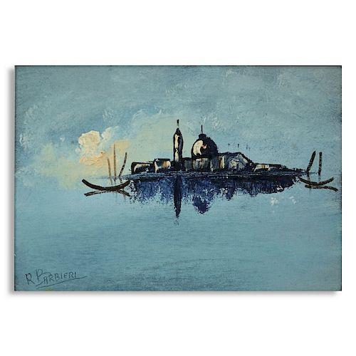 Olio Romano Barbieri Venice Oil on Board