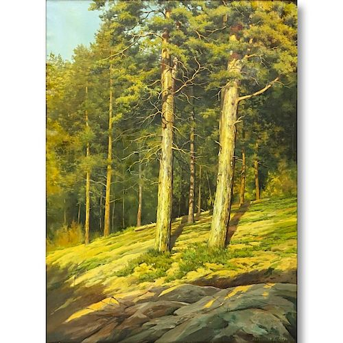 D. Abrosimov, Russian (20C) O/C Forest Landscape