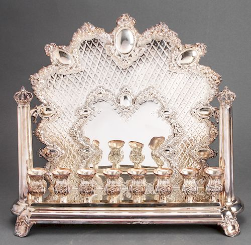 Hazorfim Sterling Regal Hanukkiah Menorah