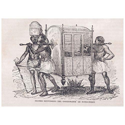 LOTE DE LIBROS: Viaje Pintoresco al Rededor del Mundo.  Biblioteca Universal Económica Ilustrada.  México: Boix, Besserer Compañía,1852