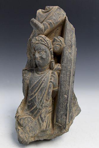A Gandhara Grey Schist Fragment.