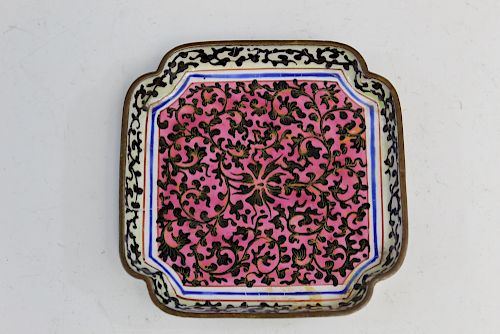 A Chinese enameled dish