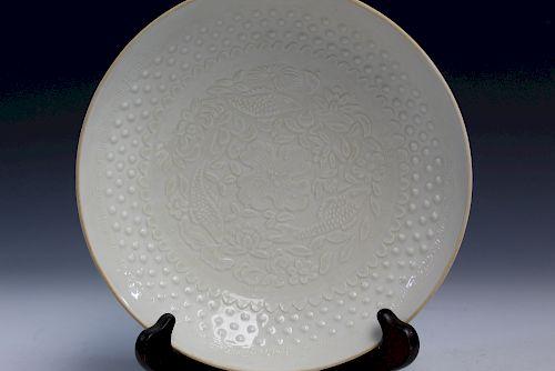 Chinese ding ware fish bowl.