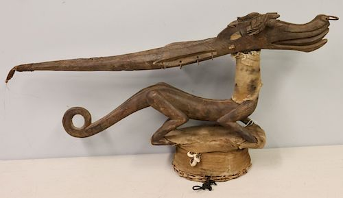 Antique African Carving Of An Animal .