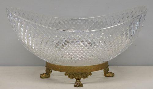 Fine Cut Glass Antique Centerpiece With