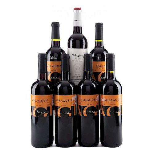 Solagüen. Cosecha 2014, 2015 y 2016. Rioja. España. Niveles: llenado alto. Piezas: 7.