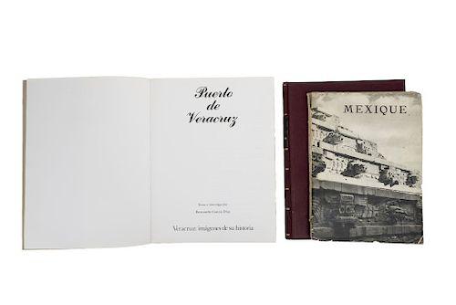 Lote de 3 libros. Consta de: a) García Díaz, Bernardo. Puerto de Veracruz. Veracruz: Archivo General del Est...