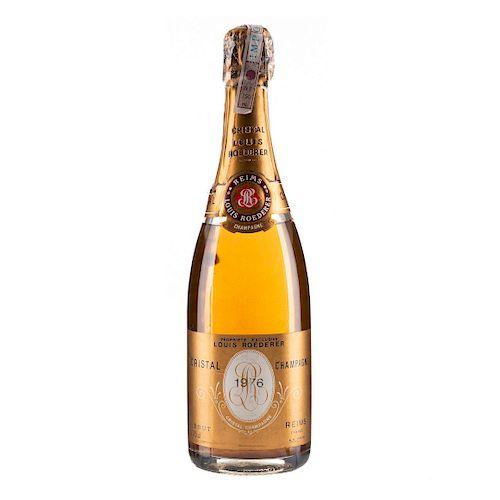 Cristal Champagne. Vintage 1976. Louis Roederer. Brut. Reims. Francia.