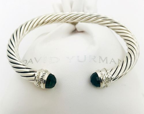 David Yurman Prasiolite Diamond Crossover Bracelet