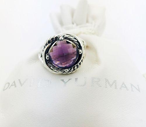 David Yurman Infinity Amethyst  Ring Sz 6.5