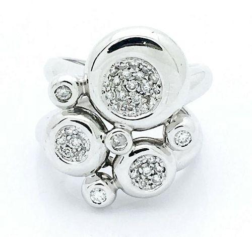 Chimento 18k White Gold 1 TCW Diamonds Openwork Cluster