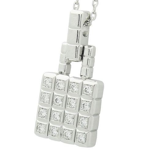 Chopard 18k White Gold  .52 VS F Diamond Necklace