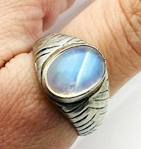 Tiffany & Co Vintage Platinum & Labradorite Ring Size12