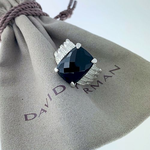 David Yurman Tides Statement Black Onyx Ring