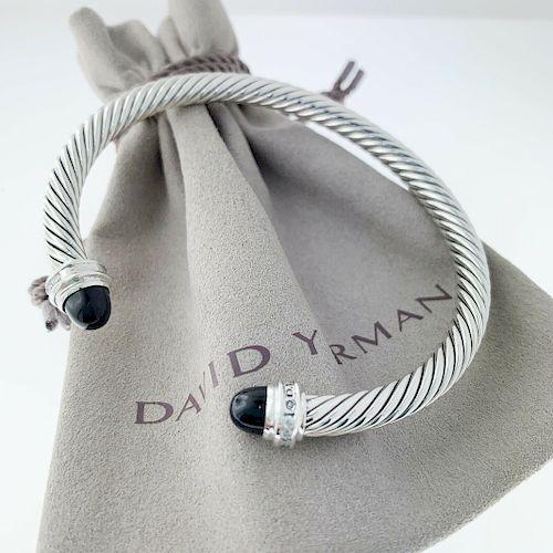 David Yurman Princess Line Diamond Cabochin Black Onyx
