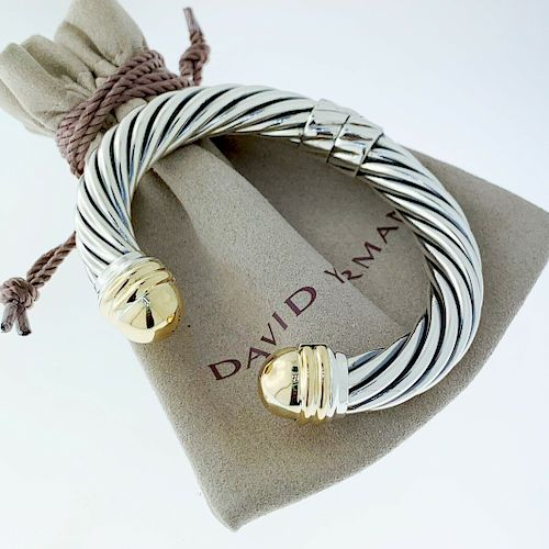 David Yurman 14k Yellow Gold Dome 10mm Bracelet