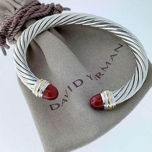 David Yurman 14k Carnelian 7mm Bracelet