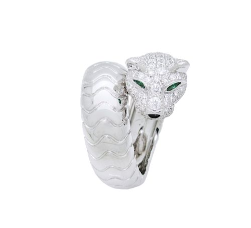 PANTHÈRE DE CARTIER RING WHITE GOLD, DIAMONDS,