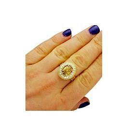 Tiffany & Co. 18K Gold GIA 2.51TCW Yellow Diamond Ring