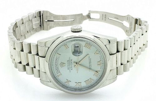 Rolex Oyster Perpetual  31mm Day-Date  Platinum Watch