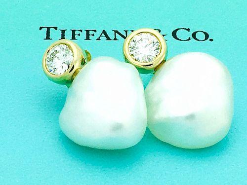 Tiffany & Co Elsa Peretti 18k Diamond Baroque Pearl