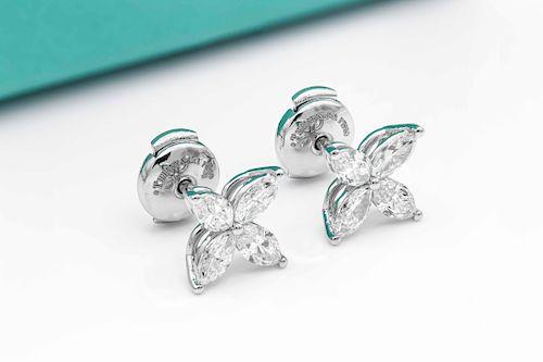 Tiffany & Co 1.14ct Diamond Medium Platinum Earrings