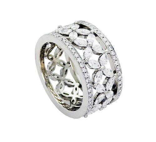 Tiffany & Co Victoria Plat 2.35 TCW Diamond Band