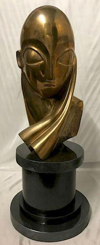 Romanian Large Bronze Sculpture Constantin Brancusi Mml