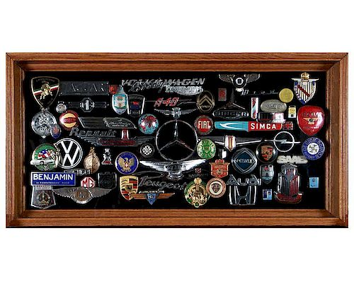 Collection of Automobile Badges and Emblems