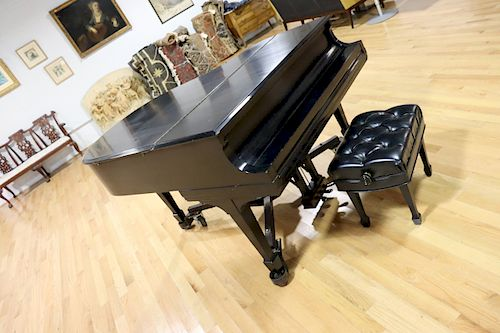 Steinway And Sons Ebonised Model M Serial # 239630