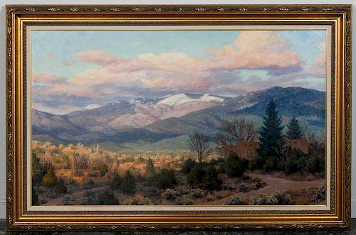 "Grant Macdonald ""Santa Fe"" Oil On Canvas Painting"