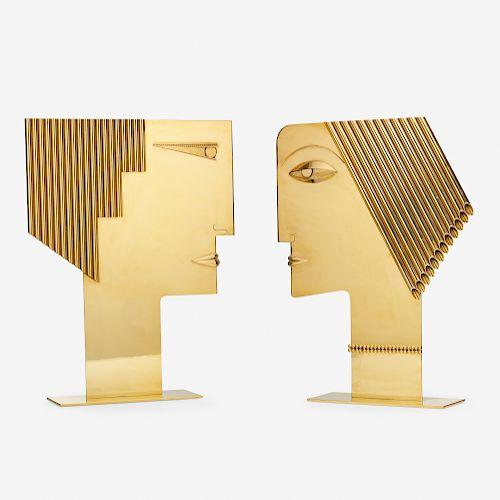 Hagenauer Werkstätte, Untitled (Two Heads)