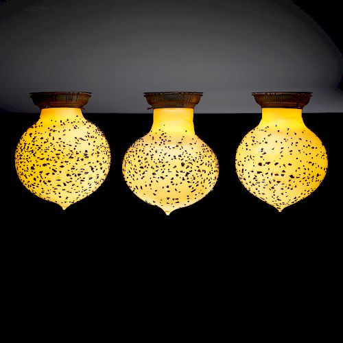 Dale Chihuly, rare sconces, set of three