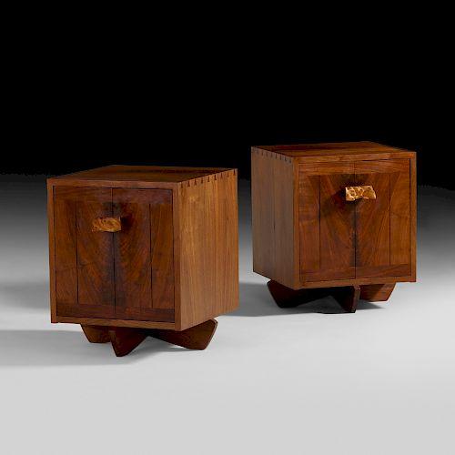 George Nakashima, Kornblut cabinets, pair