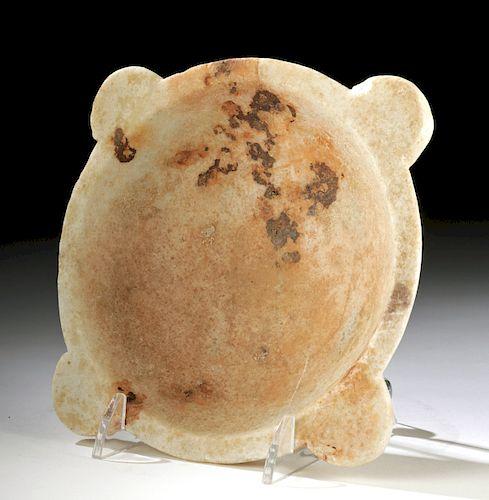 Rare Egyptian Old Kingdom Alabaster Offering Dish