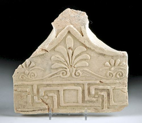 Greek Hellenistic Antefix Fragment Acanthus - TL Tested