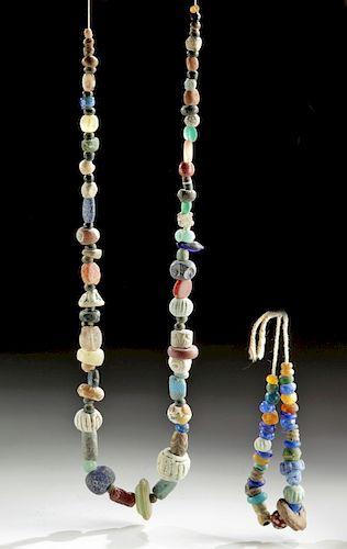 Roman / Islamic Glass, Stone, & Faience Bead Strands