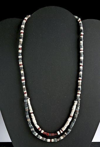 Sumerian Faience & Stone Beaded Necklace