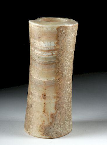 Tall Ancient Bactrian Alabaster Pillar Idol