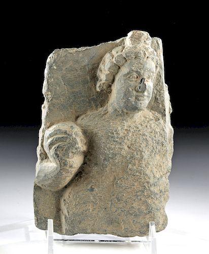 Gandharan Schist Panel Fragment w/ Prince