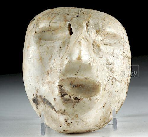 Rare Guerrero Chontal White Marble Mask
