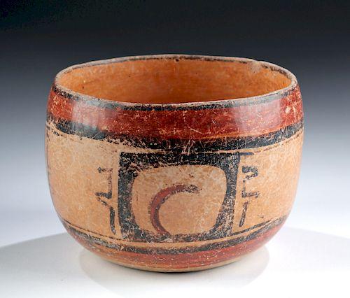 Maya Peten Polychrome Bowl