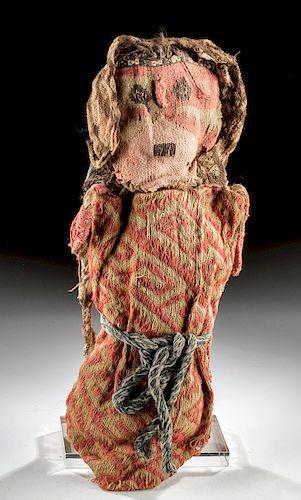 Fine Chancay Polychrome Textile & Fiber Doll