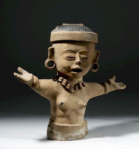 Huge Veracruz Pottery Priestess w/ Prayer Stance & TL