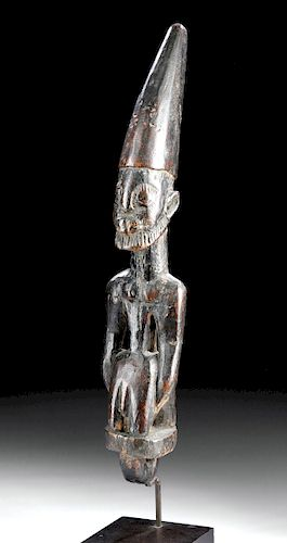 20th C. African Yoruba Wooden Divination Board Tapper