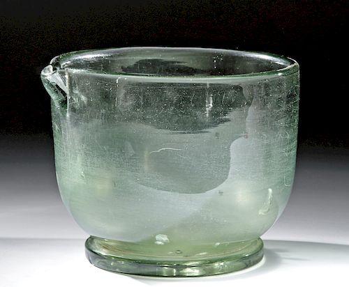18th C. Dutch / German Glass Chemist's Mortar