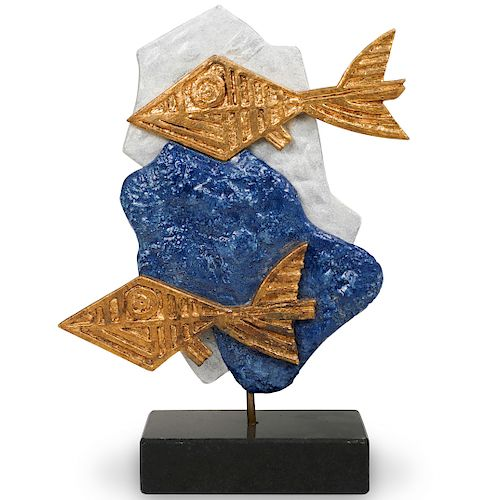 Georges Braque (France, 1882-1963) Les Oiseaux Bleus Sculpture
