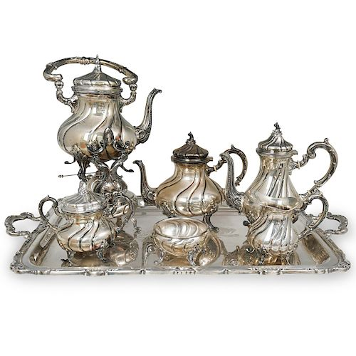 (7 Pc) Camusso Peruvian Sterling Silver Tea Set