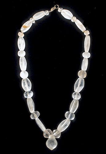 Bactrian / Western Asiatic Rock Crystal Bead Necklace
