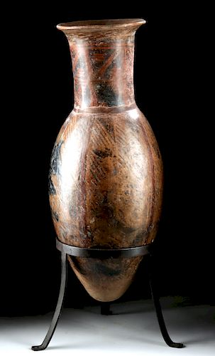 Narino Pottery Bullet Amphora w/ Negative Resist Motifs
